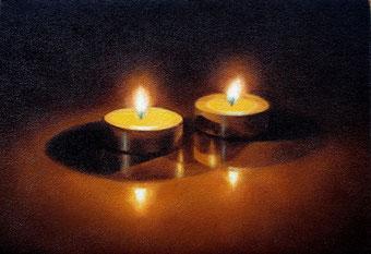 「燈火」  SM 油彩・キャンバス