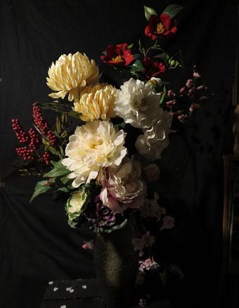 黒沼大泰「花」410x318mm アクリル