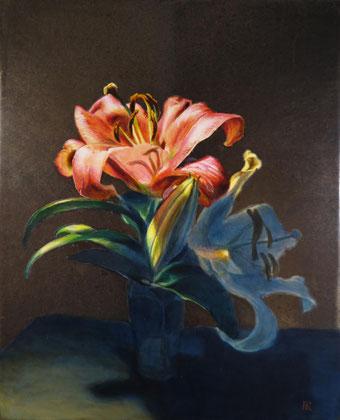 「Lily」273x220mm アクリル・箔