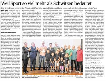Artikel Dürener Zeitung vom 14.07.2018