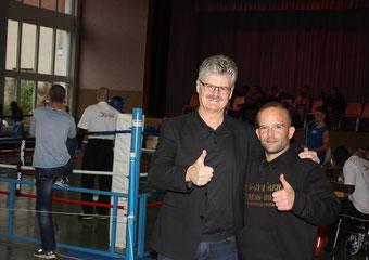 Marco Spath mit Marco Rupp - Gemeindepräsident Ittigen - ITTIGEN BOXEN II - 3. Swissboxing LC-CUP - SA 25.11.2017