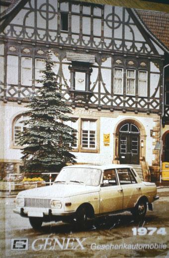 Werbung für GENEX Fahrzeuge - Wartburg 353 - Archiv W.Malek