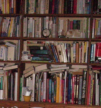 Wenn die Bücherwand überquillt