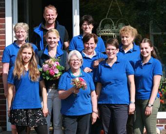 Das Team der Floristwerkstätte in Gütersloh 2017