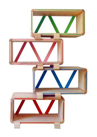 bibliotheque modulable kolorea en bois massif atelier mobibois. Black Bedroom Furniture Sets. Home Design Ideas