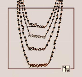 Collane rosario con scritte
