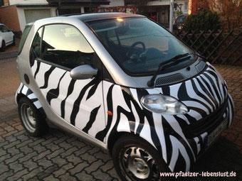Smart Fortwo Zebramuster Zebrastreifen