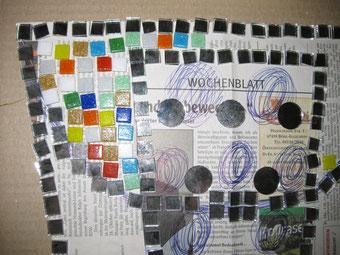 Mosaik Eimer Dubbeglas
