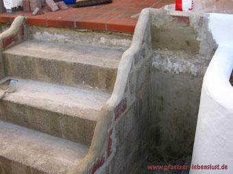 Griechenland Treppe selbst gemacht Terrasse Garten