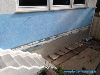 Wand Bild Gemälde Kunst kreativ Meer Strand Armierungskleber modelliert Wellen 3D