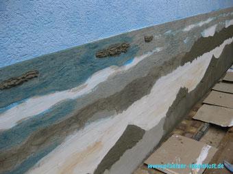 Fliesen Wand überziehen Bild Gemälde Kunst kreativ Meer Strand Armierungskleber Wellen