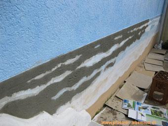 Wand Bild Gemälde Kunst kreativ Meer Strand Armierungskleber Wellen