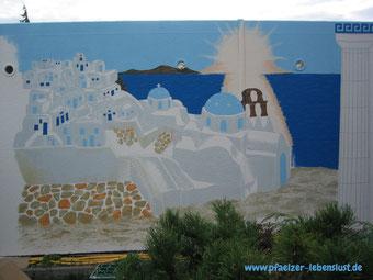 Santorini Wand Gemälde