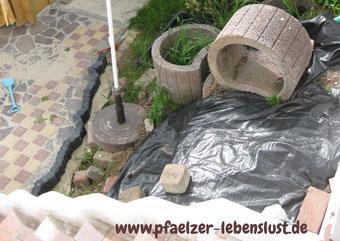 Garten Wasserfall Bachlauf selbst machen