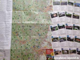 Pfälzer_Hüttenquartett_Kartenspiel-Wanderplan Neustadt-Nord