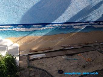Wand Bild Gemälde 3 D Kunst kreativ Meer Strand Armierungskleber