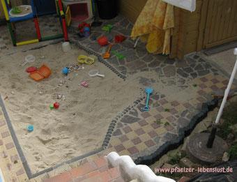 Garten Sandkasten als Strand im Garten Kreativ