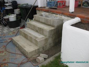 Treppe Terasse selbst bauen