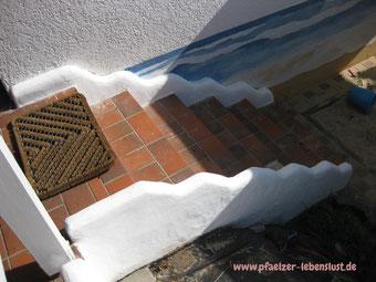 Garten Treppe griechischer Look
