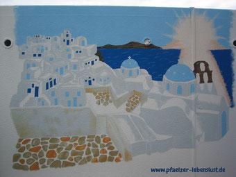 Santorini Griechenland selbst malen