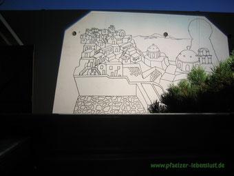 Santorini Meer Garage bemalen Wandbild groß