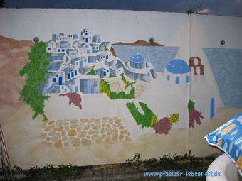 Santorini Wand Griechenland selbst malen