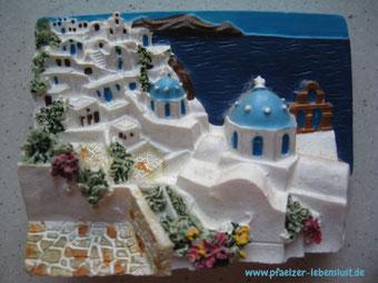 Kühlschrankmagnet Santorini Griechenland Andenken