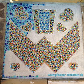 Mosaik Eingang Boden Glasmosaik Steine setzen