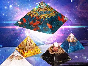 Pyramide Orgonite - lithothérapie - casa bien-être