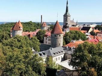 Blick über die Altstadt von Tallinn