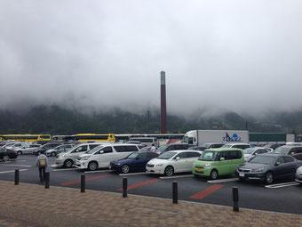 談合坂SA 凄い霧