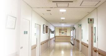 様々な消防設備が設置されている総合病院