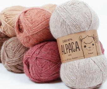 Strickschal aus Alpacawolle von alpavia-design.ch