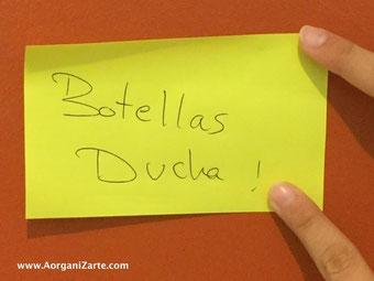 escribe en un post it el objetivo del día - www.AorganiZarte.com