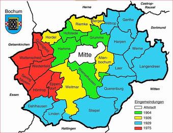 Bochum`s  Nachbarn haben  eben auch noch unterschiedliche Regierungsbezirke.  Es ist eben die Metropole Ruhr