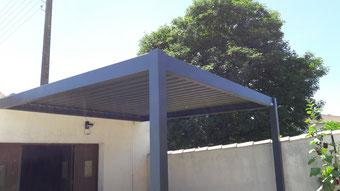 pergolas à lames orientables en aluminium - réalisation FMA Menuiserie Lezay