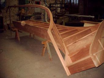 escalier 1/4 tournant en bois exotique sans poteaux réalisé par FMA Menuiserie