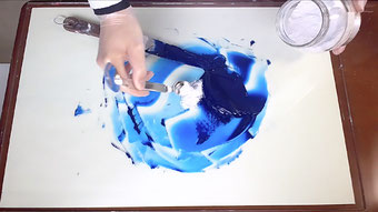 高森幸雄 油絵具を作る Making Oil Paint