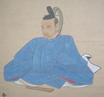 主殿寮史生 従六位ノ上 村上日向目源朝臣都愷大人の肖像画