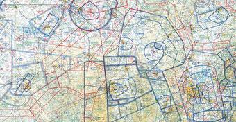 Image de zones aérienne pour aider les pilotes de parapente à préparer leurs vols de distance.