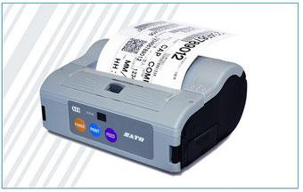 Mobiler Thermodrucker 4 Zoll breite von SATO, grau