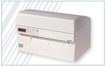 Industrie-Thermodrucker mit extra breitem Druck, weiß