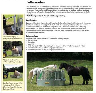 Agro-Widmer Stallbedarf - Rundraufe für Pferde Patura