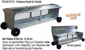 Agro-Widmer Stalleinrichtungen - Fahrbarer Trog für Schafe