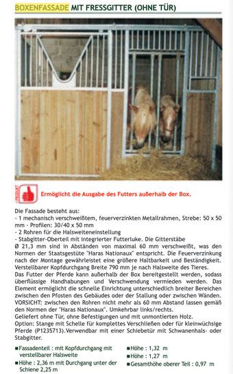 Agro-Widmer Stalleinrichtungen - Boxenfassaden mit Fressgitter La Gée