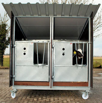 Agro-Widmer Stalleinrichtungen - Mobil Kälberhütten Hedemann