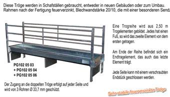 Agro-Widmer Stalleinrichtungen - Trog für Schafe im Bausatz