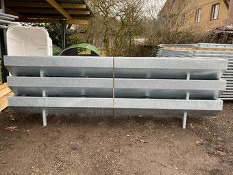 Agro-Widmer Stalleinrichtungen - Futtertröge Tränkebecken 4m