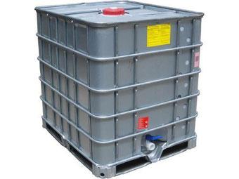 Agro-Widmer Stalleinrichtungen und Silos - Foto IBC Container mit Blechverkleidung