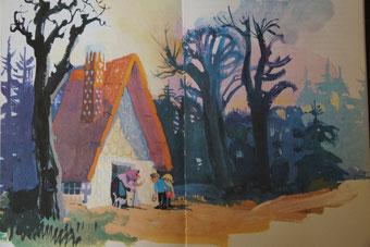 Hänsel und Gretel im Märchenbuch
